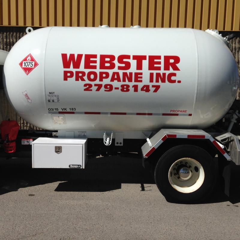propane truck close-up
